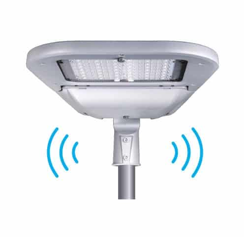 valo smart led street light against blue sky